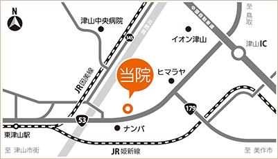 布上内科医院 周辺地図